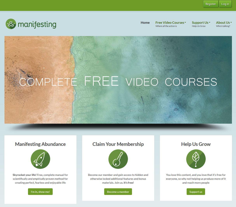 Web stranica Manifesting.tv