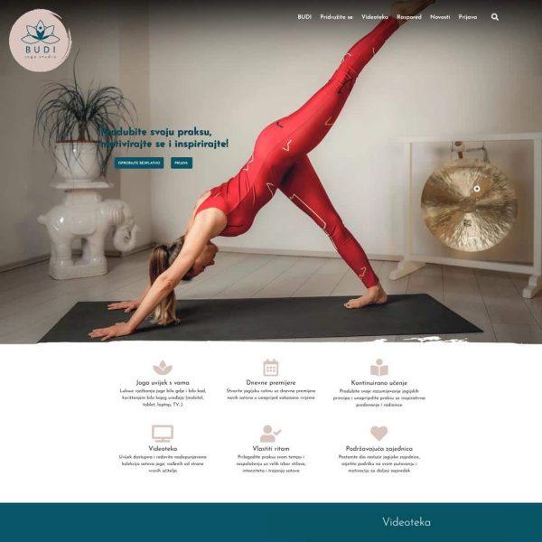 Online joga studio BUDI