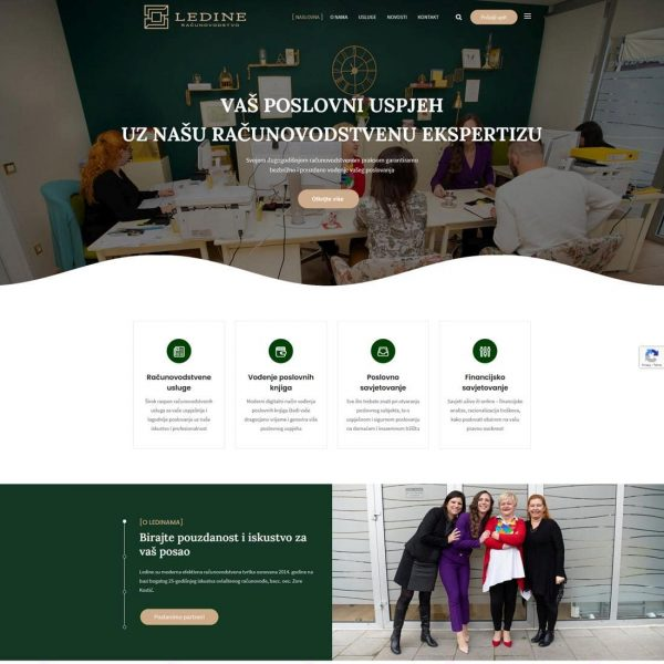 Web stranica Računovodstvo Ledine