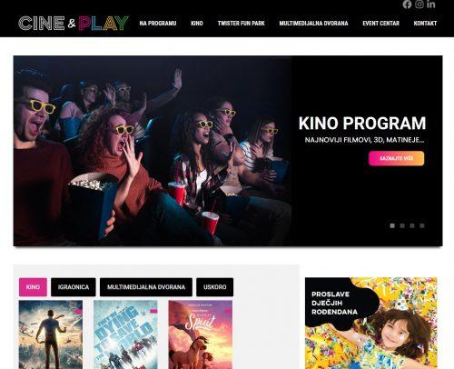 Web stranica Cine&Play